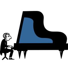 Piano Musician vector image vector image