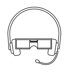 Vr virtual reality glasses simple flat icon vector