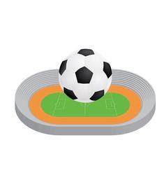 ball above stadium vector image