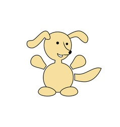 Happy-Dog-380x400 vector image