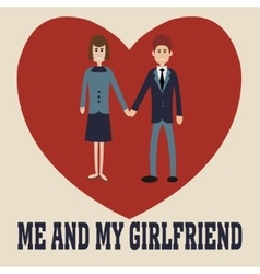 Me and my girlfriend vector image vector image