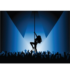 pole dancer with crowd vector image