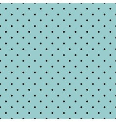 Tile black small polka dots on mint background vector image