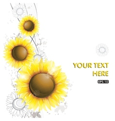 Abstract sunflower design vector image