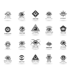 Eye logos set vector image vector image