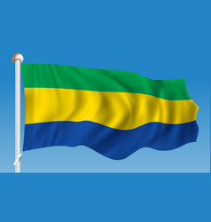 flag of gabon vector image
