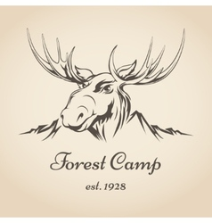 Forest camp logo vector image vector image