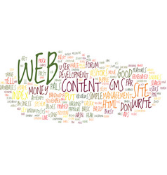 Let s hear it for web text background word cloud vector