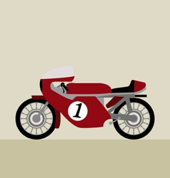 Vintage motorcycle competition vector
