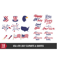 4th july usa independence day icon and quote vector image