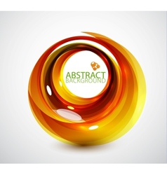 abstract orange swirl background vector image