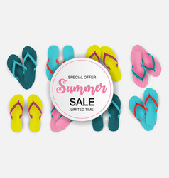 abstract summer sale vector image