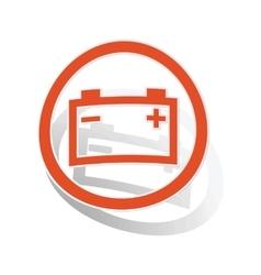 Accumulator sign sticker orange vector