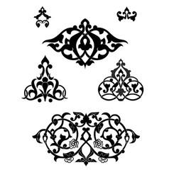 Arabesque set for design vector