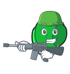 Army brussels character cartoon style vector