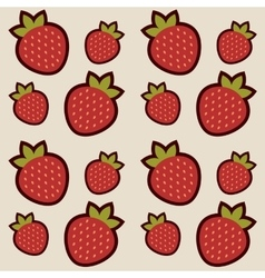 Background with red strawberries vector image vector image