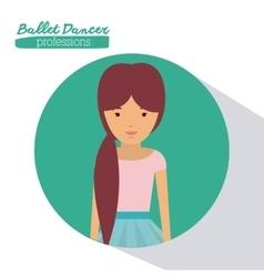 ballet dancer design vector image