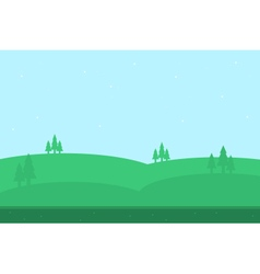 Beautiful hill of silhouettes for game vector image