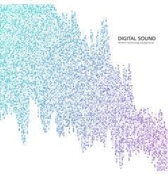 big data digital data stream abstract technology vector image