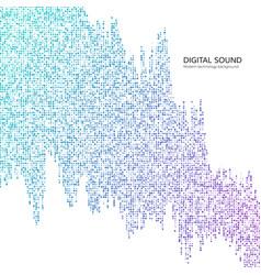 big data digital data stream abstract technology vector image
