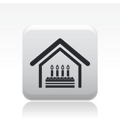 birthday home vector image