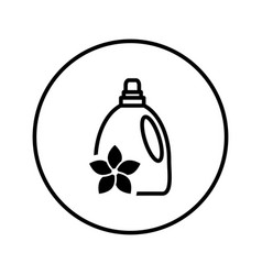 bottle fabric softener icon editable thin vector image