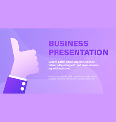 business presentation background vector image
