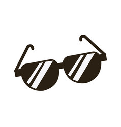 cartoon sunglasses accessory fashion icon vector image