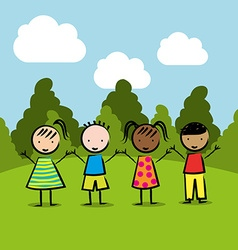 children drawing design vector image