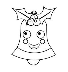 christmas bell emoji icon image vector image