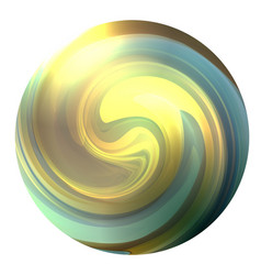 circle with a swirling multicolor whirlpool the vector image
