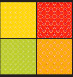 collection citrus seamless patterns grapefruit vector image