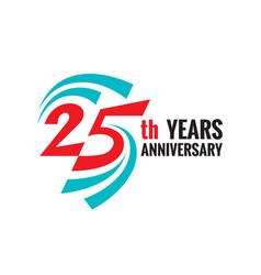 Creative emblem twenty five years anniversary vector
