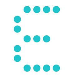 digital letter e display board round dot vector image
