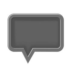 empty 3d icon speech bubble vector image