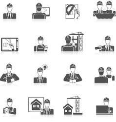Engineer Icons Set vector
