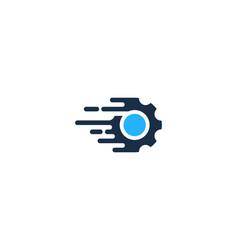 fast gear logo icon design vector image