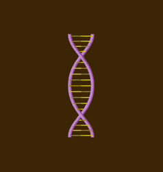 flat shading style icon dna vector image