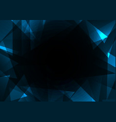 fracture frame abstract dark background vector image