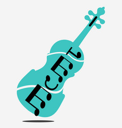 Free violin stock blue vector