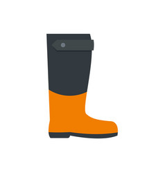 garden boot icon flat style vector image