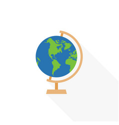 Globe stand icon flat design vector