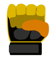 goalkeeper glove icon vector image
