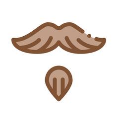Goatee beard mustache icon outline vector