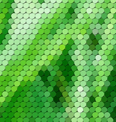 Grass themed background with circular grid vector