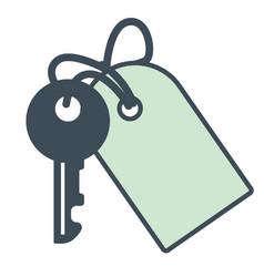 hotel room key opener with trinket vector image