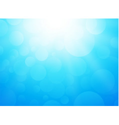 ice cold blue background with bokeh and rays vector image