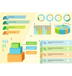 Infographics icons and elements for presentation vector image