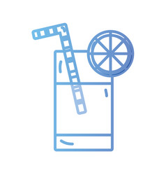 line delicious smoothie drinks beverage vector image