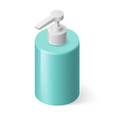 Liquid soap isometric vector image
